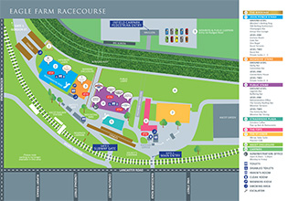 Eagle Farm Map | Brisbane Racing Club