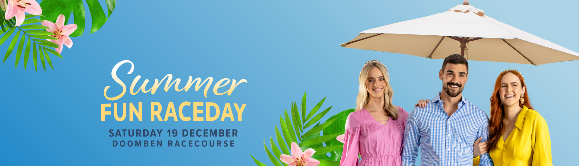 Summer Fun Day Banner | Brisbane Racing Club