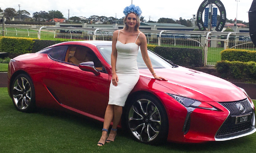 Kimberley Busteed (Spring Racing Carnival ambassador) & Lexus (Official Vehicle Partner) announced at Brisbane Racing Club