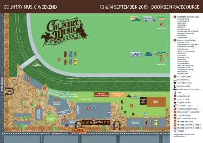 Country Music Weekend Event Map | Brisbane Racing Club