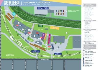 Spring Racing Carnival Map | Brisbane Racing Club