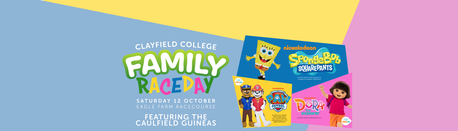 Clayfield College Family Raceday - Spring Racing Carnival Page Banner