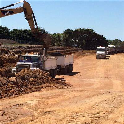 Looking at the vehicle tunnel from the infield at Eagle Farm Racecourse to the North East corner