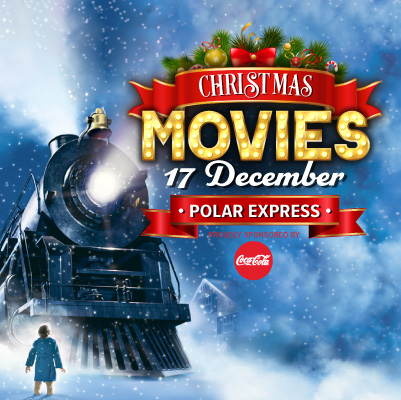 Polar Express Christmas Movie on the Big Screen on the Green