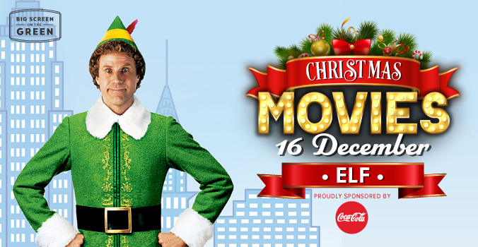 Elf Christmas Movie on the Big Screen on the Green