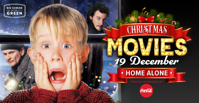 Home Alone Christmas Movie on the Big Screen on the Green