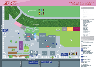 Ladies Oaks Day Event Map | Brisbane Racing Club