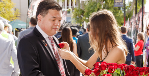 BRC Members receive a complimentary red rose buttonhole | Brisbane Racing Club