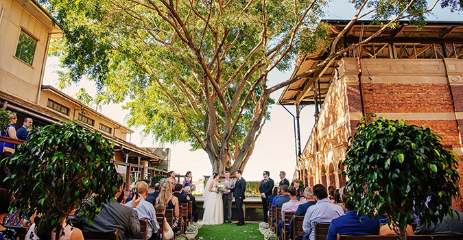 St Leger Fig Tree at Eagle Farm Racecourse is home to Brisbane's most stunning wedding ceremony and reception venue