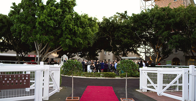 The Parade Ring at Eagle Farm Racecourse is home to Brisbane's most stunning wedding ceremony and reception venue