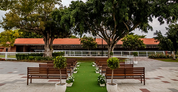 Stradbroke Plaza at Eagle Farm Racecourse is home to Brisbane's most stunning wedding ceremony and reception venue