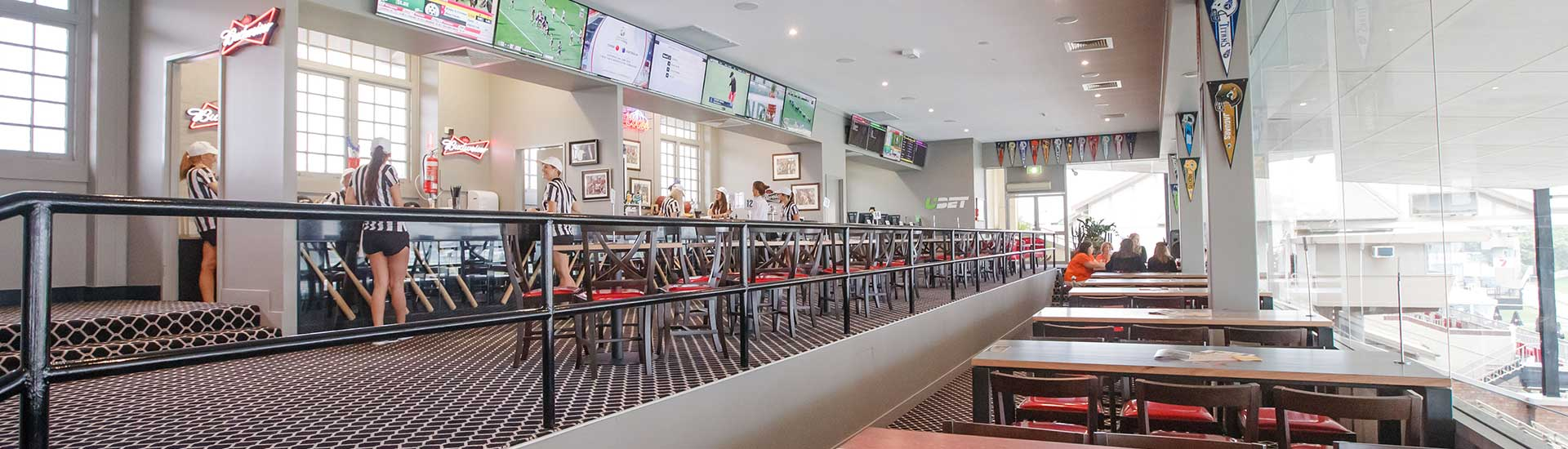 Kentucky Sports Bar is the perfect location for your function, providing prime viewing for racedays, it is also the perfect space for cocktail events